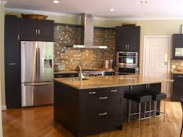 kitchens with dark cabinets classic mid century white wooden