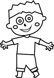 child boy joy coloring page wecoloringpage