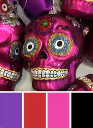 Fall Color Palette by Fall Color Inspiration Day Of The Dead Dia De Los Muertos