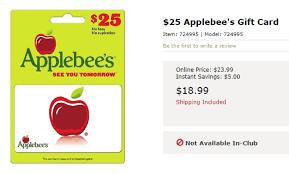 applebee s gift cards 25 applebee s gift card for 19 at bj s danny the deal guru