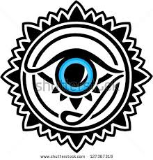 nazar protection amulet eye providence all stock vector 127367318