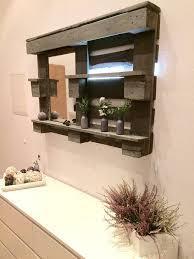 Diy Bathroom Mirror by Pallet Bathroom Mirror Shelf Diy 101 Pallets