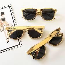 wedding favor sunglasses gold sunglass wedding favors tribe bridal squad