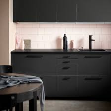 Form Us With Love Creates IKEA Kitchen From Recycled Plastic Bottles - Ikea black kitchen cabinets