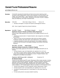 100 executive summary resume example template executive resumes