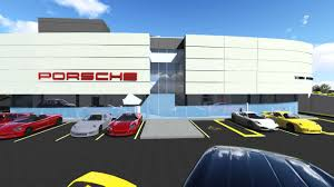 porsche showroom porsche showroom animation fly thru di cara rubino architects