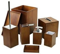 Bamboo Bathroom Accessories by Bathroom Accessory Set By Gedy Contemporary Bathroom Accessory
