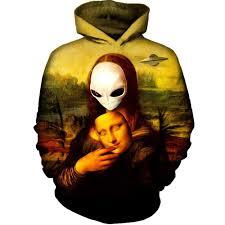 alien halloween costume alien mona lisa hoodie u2013 on cue apparel