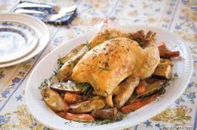 cuisiner poulet entier poulet rôti aux pommes de terre et carottes recettes de cuisine