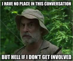 Walking Dead Meme Season 1 - lurker status with a fierce love of humans album on imgur