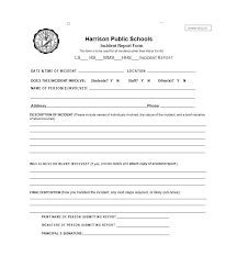generic incident report template sle of incident report format incident report template 33 free