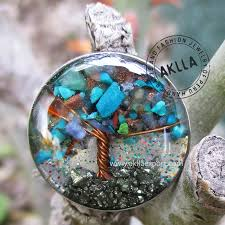 rings natural stones images Adjustable ring tree of life with natural stones and resin aklla jpg