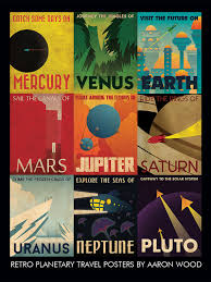 travel posters images Retro planetary travel poster jpg