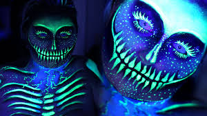 electric uv blacklight skeleton sfx makeup tutorial nyx face