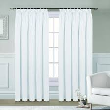 White Darkening Curtains White Blackout Curtains Free Home Decor Techhungry Us