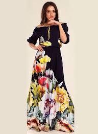 floral maxi dress shoulder half sleeve floral maxi dress oasap