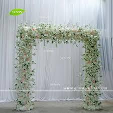 wedding arch entrance gnw flwa1707001 floral entrance wedding arch cherry square arch