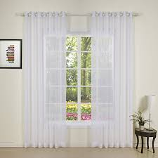 Pinch Pleated Sheer Draperies Rod Pocket Grommet Top Tab Top Double Pleated Two Panels Curtain