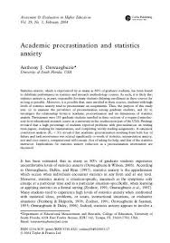 Counseling The Procrastinator In Academic Settings Pdf Procrastination Is