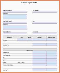 Check Stub Template For Excel 7 Payroll Check Template Excel Sles Of Paystubs