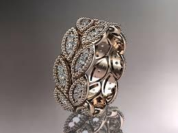 nature inspired engagement rings 14kt gold leaf wedding ring engagement ring wedding band