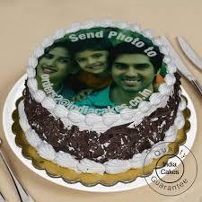 photo cakes order 1 kg black forest photo cake today indiacakes