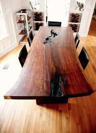 Walnut Slab Table by Best 25 Wood Slab Dining Table Ideas On Pinterest Live Edge