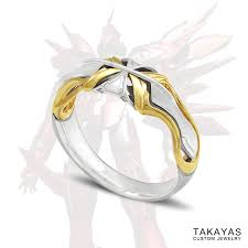 anime wedding ring xenogears fei and elly inspired mech wedding rings takayas