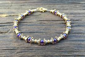 beaded bracelet kit images Bead stringing 101 beaded bracelet making kit purple glass beads jpg
