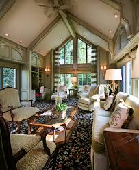 Windows Family Room Ideas Furniture Bergere Chair And Carpet Pattern In Traditional Family