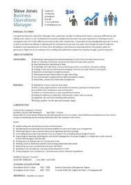 Assistant Manager Resume Example by Business Operations Manager Resume Template Purchase Getting The