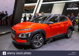 suv hyundai 67th international motorshow in frankfurt suv hyundai kona stock