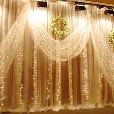 sheer curtains with lights 224led 9 8ft 6 6ft curtain string fairy wedding led lights for