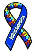 blue support ribbon autism awareness ribbon car magnet 3 5 x 7 5