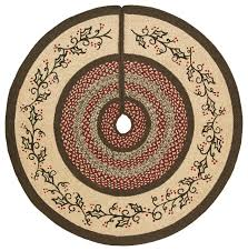 holly berry jute stencil tree skirt 48 rustic christmas tree