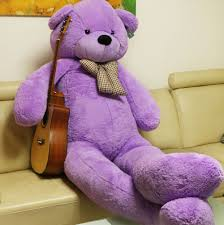 big teddy 91 purple teddy 7 5 ft well stuffed