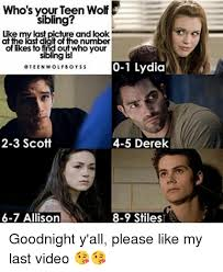 Teen Wolf Meme - who s your teen wolf sibling like my last picture and look at the