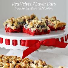 red velvet 7 layer bars recipes food and cooking