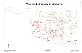 Map Of Oklahoma Counties Oklahoma Conservation Commission Flood Control Programs