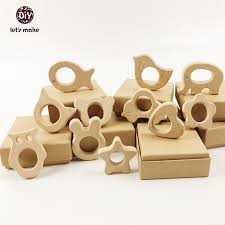 aliexpress com buy let u0027s make wooden teethers 11pc nature baby