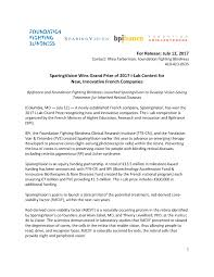 Foundation Fighting Blindness Press Release Sparingvision