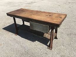antique kitchen island table rustic vintage workbench antique industiral kitchen island table