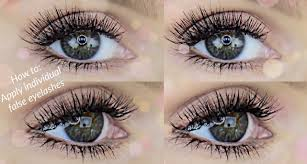 how to apply individual false lashes rachael brook youtube