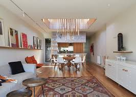 private dining room melbourne architects refurbish a private home and fill it with color in