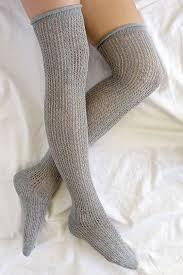 grey socks the knee socks 15 00