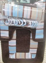 Shower Curtain Blue Brown Cheap Brown Stripe Shower Curtain Find Brown Stripe Shower
