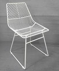 White Wire Chair New Sive Indoor Wire Bend Net Chair Cafe Seat Dining Replica White