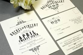 carlton wedding invitations wedding invitations ivory and black pocket