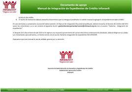constancias de intereses infonavit 2015 documento de apoyo manual de integración de expedientes de crédito