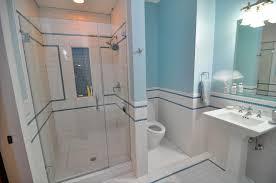 Tiled Bathrooms Bathroom Wall With Beveled White Subway Tile Tikspor